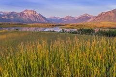 Where the prairie meets the mountains, Waterton Lakes National Park, Alberta, Stock Photos