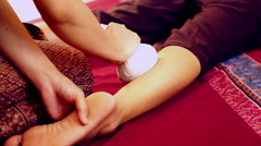 Traditional Thai Style Massage Stock Footage