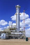 Liquid Natural Gas Plant, Empress, Alberta, Canada Stock Photos