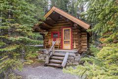 Cabin of Lake O'Hara Lodge, Yoho National Park, British Columbia, Canada Stock Photos
