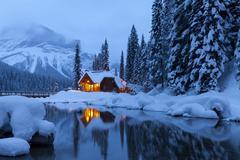 Emerald Lake Lodge in Winter, Yoho National Park, British Columbia, Canada Stock Photos