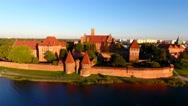 Polska, Malbork,Zamek Krzyżacki Stock Footage