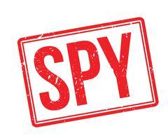 Spy rubber stamp Stock Illustration