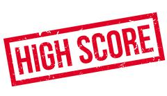 High score rubber stamp Stock Illustration