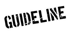 Guideline rubber stamp Stock Illustration