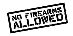 No Firearms Allowed rubber stamp Stock Illustration