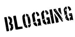 Blogging rubber stamp Stock Illustration