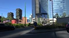 Modern skyscrapers of Porta Garibaldi,Milan, Italy, Stock Footage