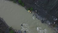 Rafting river water spors drone Stock Footage