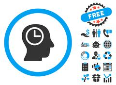 Time Manager Flat Vector Icon with Bonus Stock Illustration