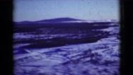 1946: survivor displaying where the attacks happened ALASKA Stock Footage