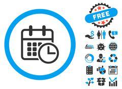 Timetable Flat Vector Icon with Bonus Stock Illustration