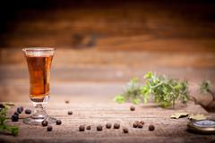 Tincture alcohol on the table Stock Photos
