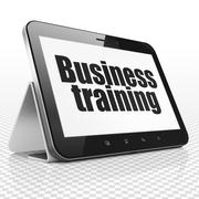 Education concept: Tablet Computer with Business Training on display Stock Illustration