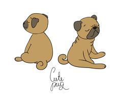 Cute little pug dog Piirros