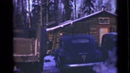 1946: the care's are smoke ALASKA Stock Footage
