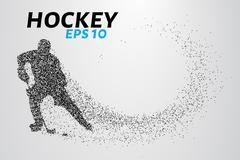Hockey player of the particles Piirros