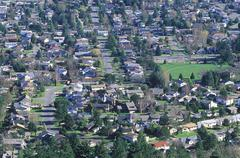 View of houses from Mt Douglas, Victoria, Vancouver Island, British Columbia, Kuvituskuvat