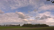 Clouds over the field.Timelapse Stock Footage