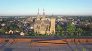 Church in small Town,Cuijk,Netherlands Stock Footage