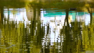 The water surface of the lake, a pond in the park Stock Footage