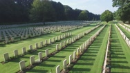 Worldwar 2 cemetary in forest Stock Footage