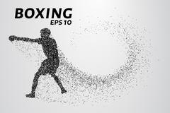 Boxer of the particles Stock Illustration