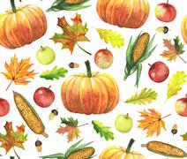 Pattern with harvest Stock Illustration