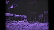 1946: kids walking during the winter ALASKA Stock Footage