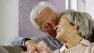 Senior couple smiling Stock Footage