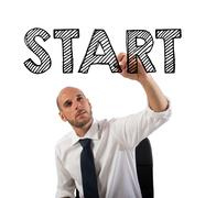 Start a business sucessful career Stock Photos