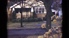 1946: typical american home street drive way with curb appeal ALASKA Stock Footage
