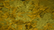 Clear water in the waterfall, decorative waterfall, close-up Stock Footage