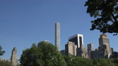 View from Central Park (4K), Manhattan, New York, United States. Stock Footage