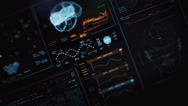 Ultra high resolution footage of futuristic interface with brain scanning Stock Footage