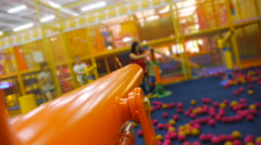 Someone preparing to shoot from an air gun, children's attractions Stock Footage