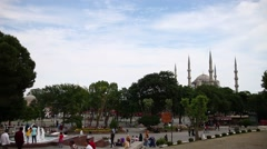 Istanbul sultan ahmet square Stock Footage