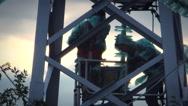 Repair power lines Stock Footage