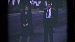 1946: ready for the family outing dressed in sunday best outfits ALASKA Stock Footage