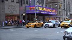 New York Police car on an emergency call, Manhattan, New York City. Stock Footage