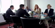 Businessmen are Discusing of the Project in the Meeting Room Stock Footage