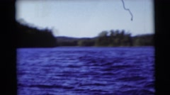 1953: water water everywhere with plentiful trees. WISCONSIN Stock Footage