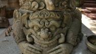 Thailand Buddhist Temple Statue Stock Footage