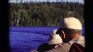 1953: a fantastic view of the river in a typical summer day in the mountains Stock Footage