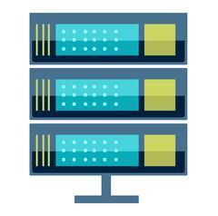 Internet data center server Stock Illustration