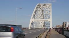 Bridge over old maas,Hendrik-Ido-Ambacht,Netherlands Stock Footage