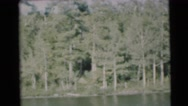 1953: showing a lake WISCONSIN Stock Footage