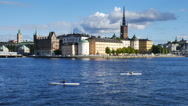 Kayaking in Stockholm Stock Footage