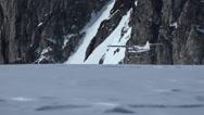 Alaska Glacier Aircraft Low Angle Flying Stock Footage