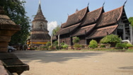 Thailand Buddhist Temple Motorcycle Ride Stock Footage